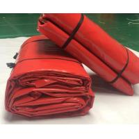 Buy cheap Red PVC Coated Polyester Tarpaulin Tear Resistant 650gsm 1000d*1000d 20*20 product