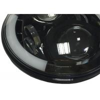 Quality 7 Inch 40W Black Jeep Wrangler LED Headlights Round J10 High Intensity for sale