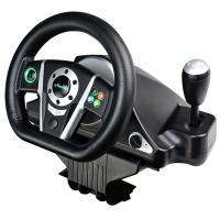 Buy cheap Dual Vibration Gaming Steering Wheel And Pedals , Usb Steering Wheel 270 Degree Rotation product