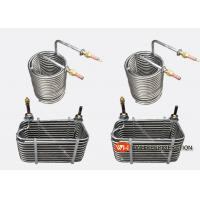 Buy cheap Industrial Stainless Steel Tube Coil Heat Exchanger For Water Chiller / Water Tank product