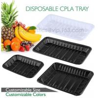 Buy cheap PLA plate best selling prodcts, biodegradable PLA dinner plate for restaurant use, pla food box for meat product