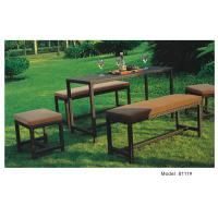 China 5pcs wicker rattan patio furniture garden benches ottoman table-8111 on sale