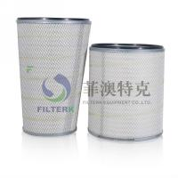 China Air Compressor Dust Collector Filter Cartridge , Hepa Washable Air Cleaner Filter on sale