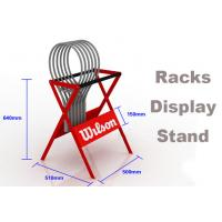 Buy cheap ​Eco Friendly Sports Display Rack Tennis Racket Display Rack Red / Blue / Gray Color product