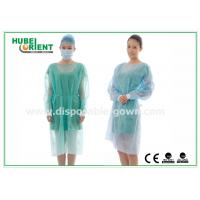 18-40G / m2 Medical Nonwoven Disposable Isolation Gowns with Knitted Cuff