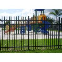 Buy cheap Decorative Spear Top Security Zinc Steel Fencing , Metal Three Rails product