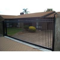 Buy cheap Countryard Driveway Sliding Gate 1.8m*2.4m , Black Powder Coated Finished product