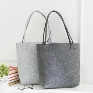 Buy cheap Free Sample Lowest MOQ High Quality Big Tote Bag Shopping Felt Handbags. size is 35cm*30cm 2mm microfiber material. product