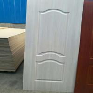 Quality White Color High Density MDF Door Skin , Long Life Durable Door Skin For Door for sale