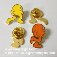 Buy cheap Metal icon enamel lapel pin with epoxy, butterfly clasp lapel pin product