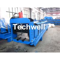 Buy cheap Metal Top Ridge Tile Roll Forming Machine With 15 Forming Stations , PLC Control System product