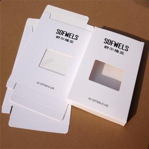 Buy cheap Caixa de empacotamento de papel do roupa interior dos homens com janela clara product