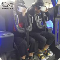 Buy cheap Black / Blue VR Motion Simulator Game Machine Two Seats  VIULUX V8 Glasses product