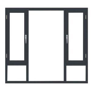Buy cheap Powder Coating Aluminium Swing Window 2.3mm-2.5mm Profile Thickness product