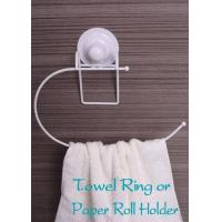fashional plastic coating towel ring holder with suction cup