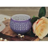 Buy cheap Colored Ceramic Pumpkin Candle Holder Anti Impact SGS Certification product