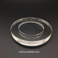 Quality Scratch Resistant Polished Flat Watch Glass Customized Shape Available for sale