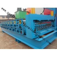 Buy cheap High Efficiency Double Layer Cold Roll Forming Machine for Roofing Tile / Wall Panel product