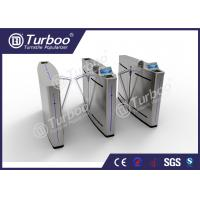 Buy cheap Mechanism Stainless Steel Flap Barrier Turnstile With RFID Card Reader product
