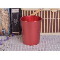 Buy cheap Decoration Red Copper V Shaped Cup Metal Candle Jar Tin Candle Containers product