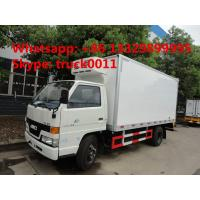 JMC 5ton cold room truck for fresh eggs and vegetables for sale, JMC brand 3-5tons frozen van truck for frozen seafood