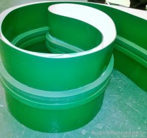 Buy cheap 3mm Green PVC Conveyor Belt Smooth Glossy Food Grade High Temperature Conveyor Belt product