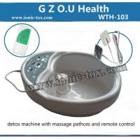 Buy cheap ionic foot detox spa machine with massage patches for Pain and Stress relief from wholesalers