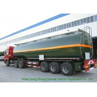 China 3 Axles Chemical Tanker Truck for 30 - 45MT Hydrofluoric Acid / HCL Transport on sale