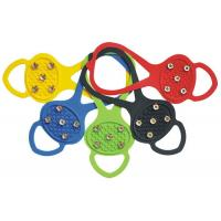 China Black blue yellow green durable safe anti-slip shoe cover ice grips magic spike on sale