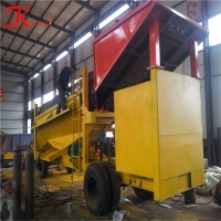 Buy cheap All Terrians 0.074mm 65% Gold Trommel Plant With Trailer product