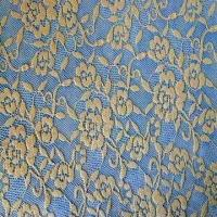 Buy cheap Cotton Lace Fabric with Metalic Silk, Plain Dyed, Various Styles and Materials are Available product