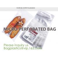 Buy cheap Microperforation blocked bags,microperforated bag for fruit and vegetable,Microperforation triangle bopp sandwich packag product