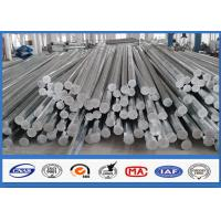 Buy cheap 9M 10M Electric Distribution Galvanized Steel Pole tapered steel tube 10 KV ~ 550 KV product