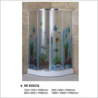 Buy cheap 6mm Colorful Tempered Glass Shower Enclosure Room for Hotel / Home Bathroom product