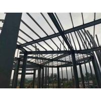 Buy cheap Q235 Light Paint Garage Steel Frame / Metal Building Frame With 50 Years Long Life product