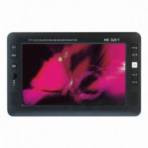 Buy cheap 9-inch LCD DVB-T Portable TV, Supports TV Play, 200cd/m2 Brightness product
