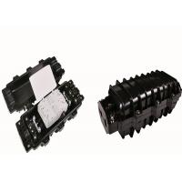Buy cheap Black Horizontal Screw Fiber Optic Splice Enclosure Max. 96 Cores 3 In 3 Out product