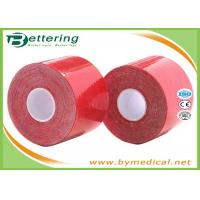 China Colored Kinesiology Physio Therapy Athletic Muscle Tape For Knee / Shoulder / Leg / Ankle Pain on sale