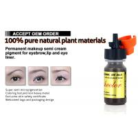 Buy cheap Jet Black Semi Cream Micro Semi Permanent Makeup Pigments For Eyeliner 8ml product