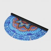 Buy cheap Custom floral print natural rubber suede microfiber surface round circle yoga from wholesalers