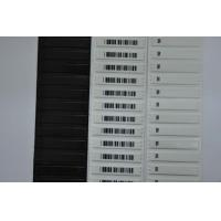White Barcode Store Shop AM Soft Anti Theft Security Labels 58kHz 1.9mm Thickness