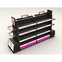 Buy cheap Stainless Steel Cosmetic Display Shelves With Light Box Customized Shape product