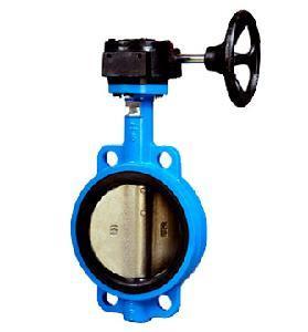 Gear box wafer butterfly valve
