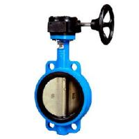 Quality Gear box wafer butterfly valve for sale