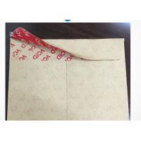 Buy cheap High Residue Tamper Proof Security Labels For Paper Envelope / Document Bags product
