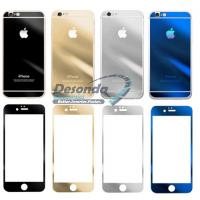 Buy cheap Mirror Colored Tempered Glass Full Cover For Iphone 6 Plus Front Back product