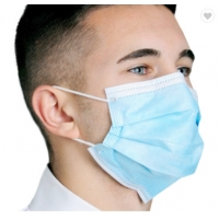 Buy cheap Disposable Face Mask Blue Color With Earloop And Three Layer Protective Mask,Disposable Nonwoven Face Mask With 3 Ply product