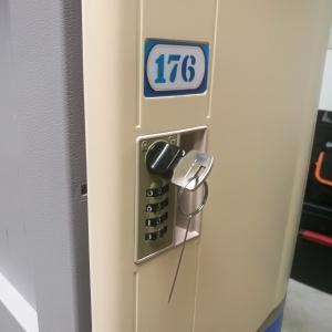Buy cheap Vandal Resistant ABS Plastic Locker 4 Tier Beige Door Gray Body For Factory product