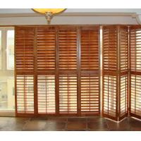 Stained plantation exterior decorative adjustable louver window shutter doors 96465953 for Exterior louvered window shutters