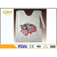 Buy cheap Colorful Disposable Plastic Seafood Bibs / Restaurant Disposable Plastic Wear product